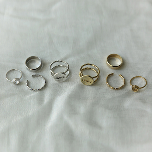 smile ring set