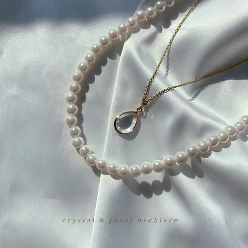 crystal&pearl necklace
