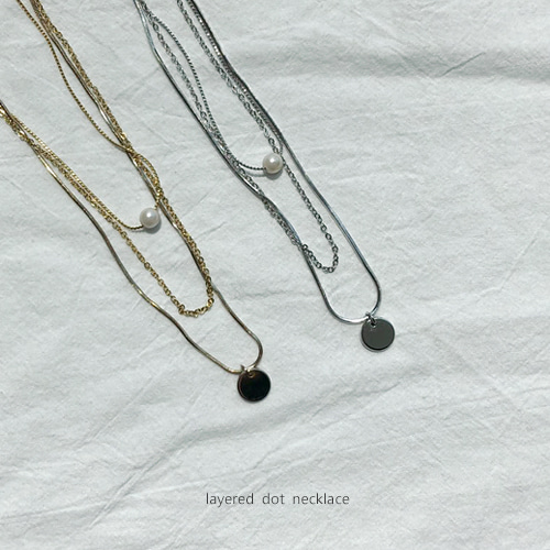 layered dot necklace
