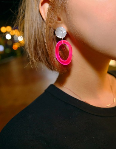 neon sign earring