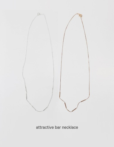 attractive bar necklace