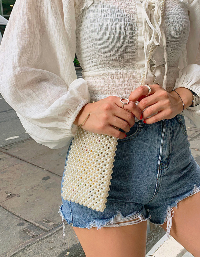 pearl cross bag